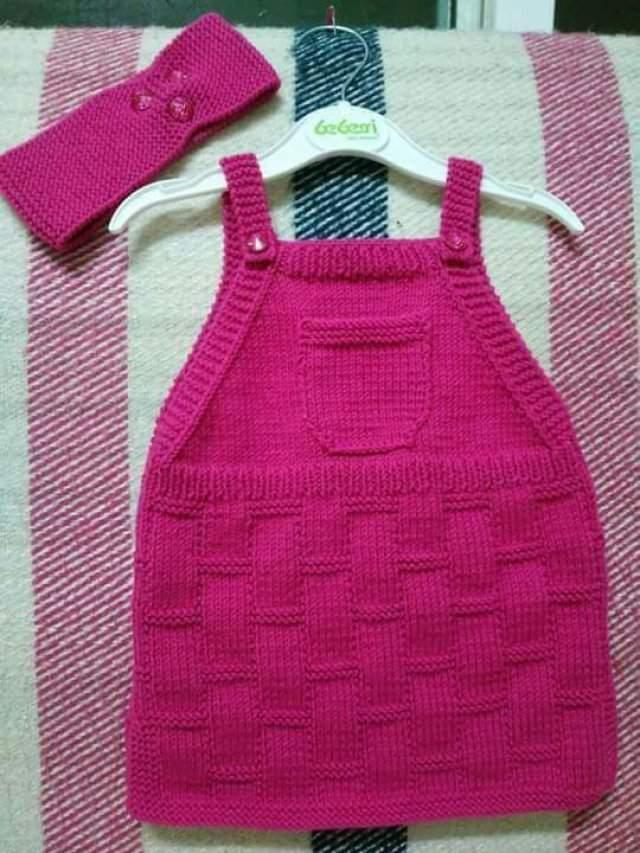 4dc4d5f94d526 Örgü Bebek Elbiseleri Şişle Örülen Bebek Elbiseleri Anlatımlı 2019