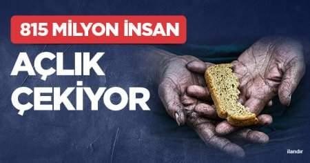 815 milyon insan açlık çekiyor